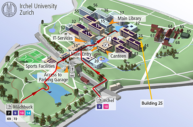 uni campus map