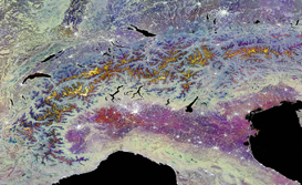 Sentinel-1 timeseries highlighting snowmelt and vegetation growth