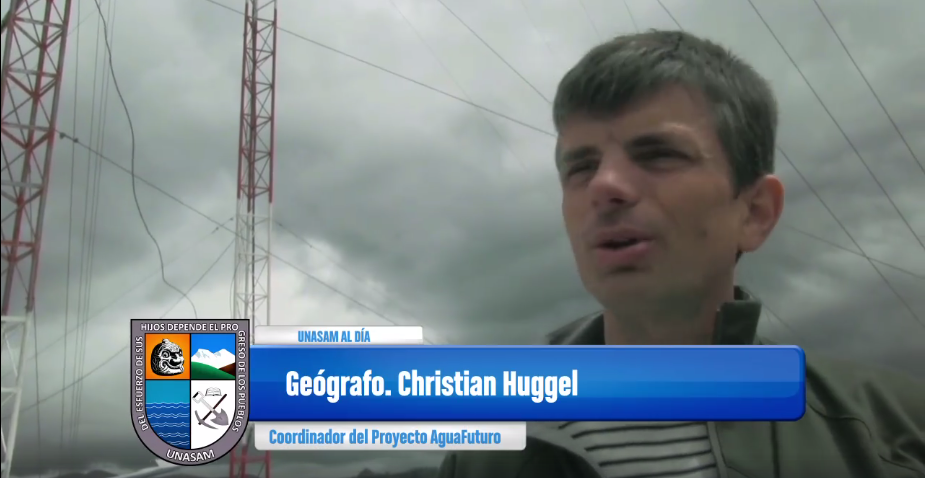 christian huggel in the video of the radar installation