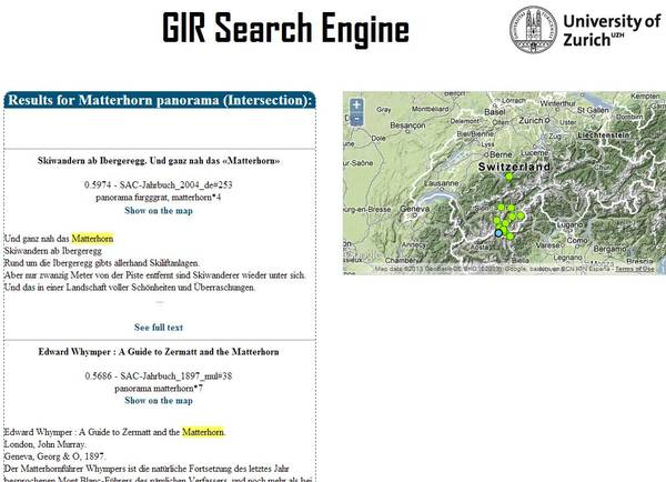 Geographic Information Search Engine