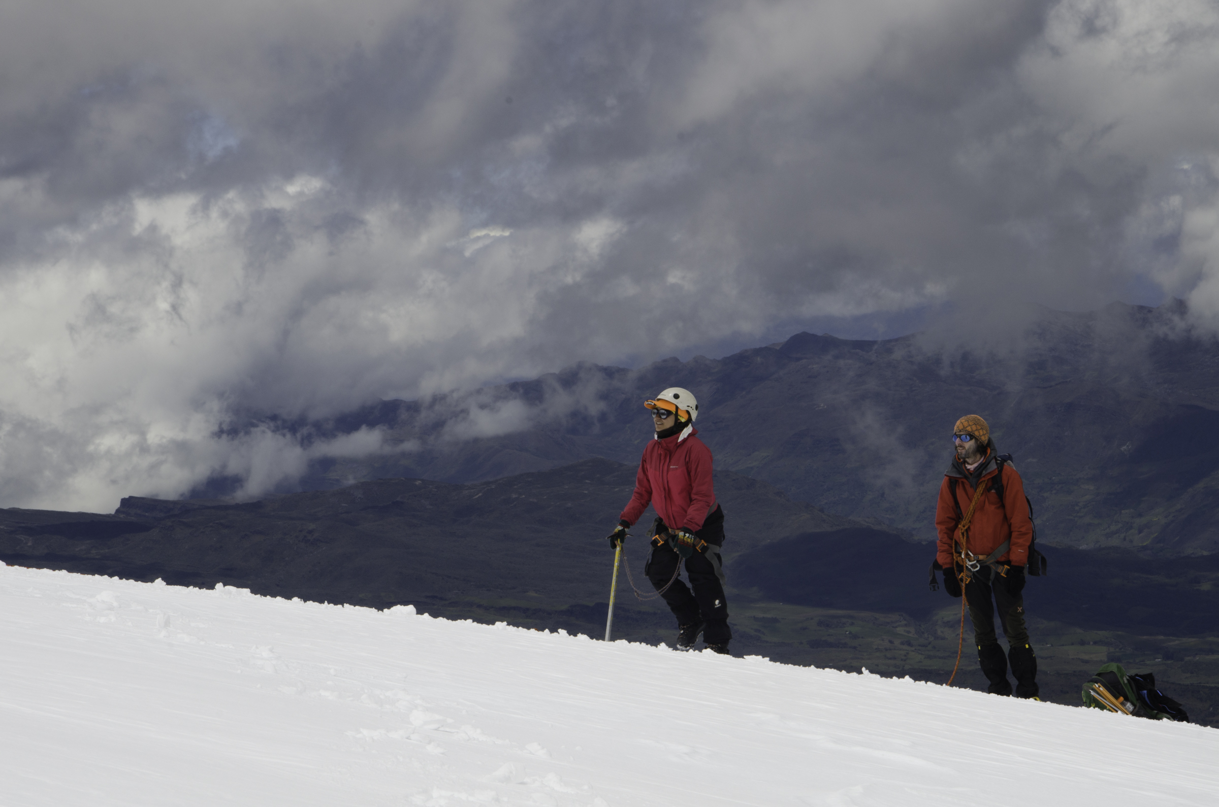Glacier field work in the Cocuy moutains (5200 m.a.s.l), Colombia (P. Rastner)