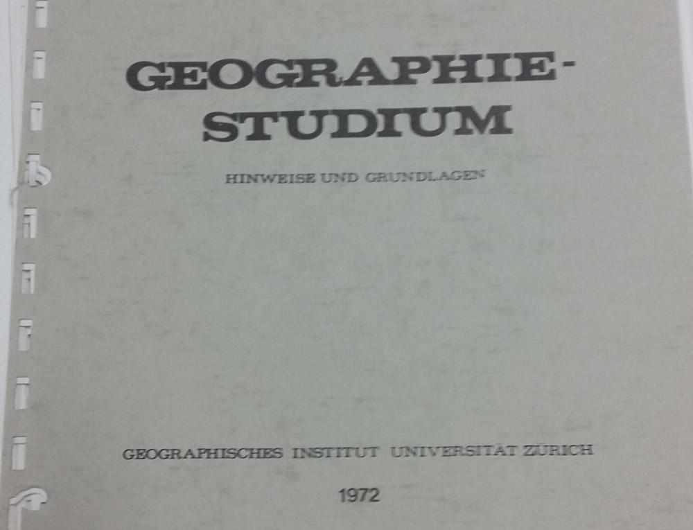 Geographie Studium Inhalte