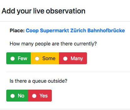 ShopSensor live observation