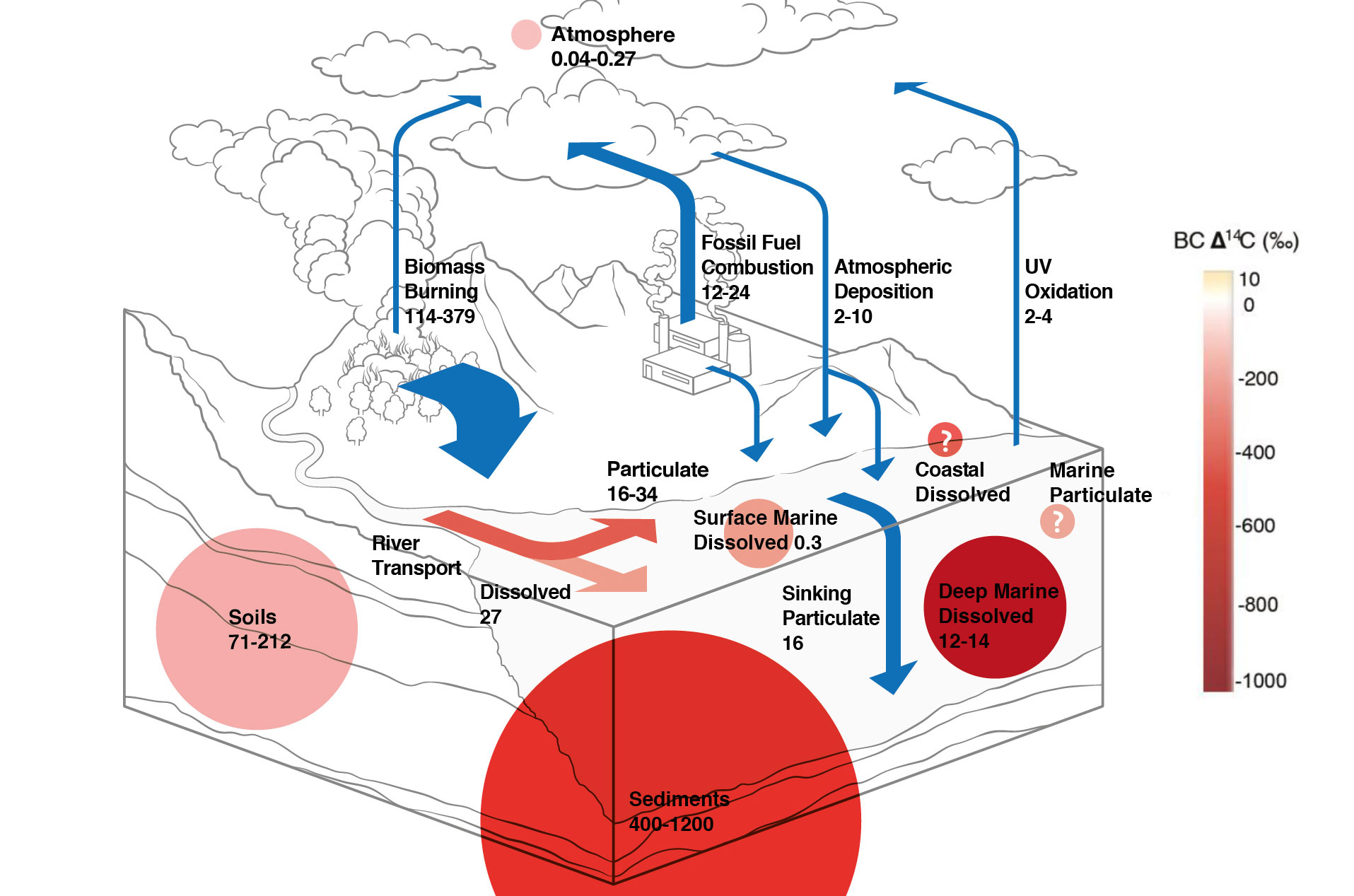Global black carbon cycle in large reservoirs (Image: MELS/SIVIC, UZH)