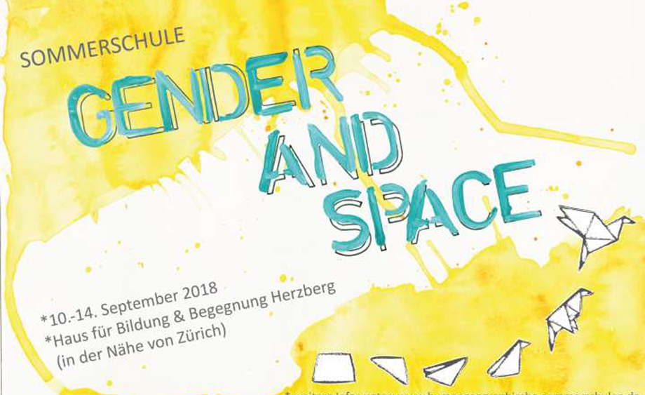 Summer school Gender and Space